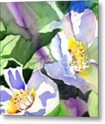 Fancy Flowers Metal Print