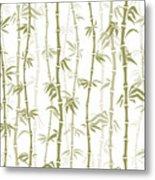 Fancy Japanese Bamboo Watercolor Painting Metal Print