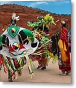 Fancy Shawl Dancer At Star Feather Pow-wow Metal Print