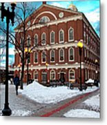 Faneuil Hall Winter Metal Print