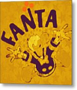 Fanta Old School Pop Art Pur Metal Print