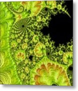 Fantastic Abstract On Black Metal Print