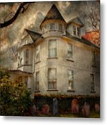Fantasy - Haunted - The Caretakers House Metal Print by Mike Savad