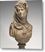 Fantasy Bust Of A Veiled Woman (marguerite Bellanger?) Metal Print