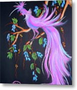 Fantasy Feather Bird Metal Print