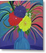 Pink And Purple Passion Metal Print