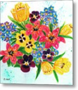 Fantasy Flowers #233 Metal Print