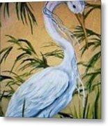 Fantasy Heron Metal Print