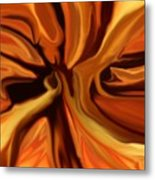 Fantasy In Orange Metal Print