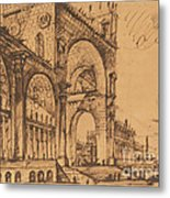 Fantasy On A Magnificent Triumphal Artch Metal Print