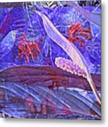 Fantasy With African Violets And Peace Lily 46 Metal Print