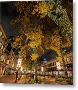 Fanueil Hall Boston Ma Autumn Foliage Metal Print