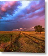 Far And Away - Open Prairie Under Colorful Sky In Oklahoma Panhandle Metal Print
