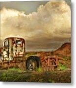 Far Rusted Truck Metal Print