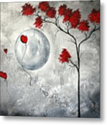 Far Side Of The Moon By Madart Metal Print