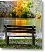 Farewell Autumn Metal Print