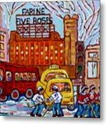 Farine Five Roses Montreal 375 Hometown Hockey Hotel Bonaventure Tour Bus Canadian Art C Spandau Art Metal Print
