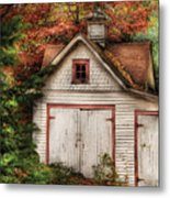 Farm - Barn - Our Old Shed Metal Print by Mike Savad