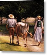 Farm - Cow - Time For Milking  Metal Print