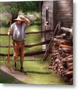 Farm - Farmer - Chores Metal Print
