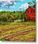 Farm - Farmer - Farm Work  Metal Print