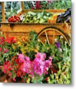 Farm - Food - At The Farmers Market Metal Print