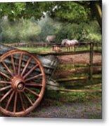 Farm - Horse - Grey Mare Metal Print