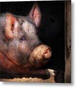 Farm - Pig - Piggy Number Two Metal Print