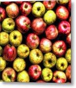 Farm Apples Metal Print