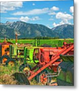 Farm  Art Tractors Metal Print