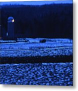 Farm At Christmas Metal Print