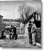 Farm Auction Metal Print
