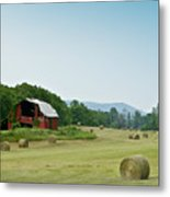 Farm Barn Listing Metal Print