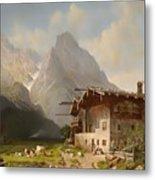 Farm Before Garmisch Metal Print