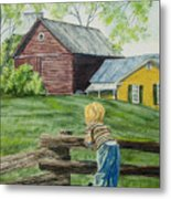 Farm Boy Metal Print