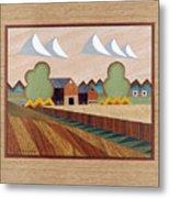 Farm By Ripon-marquetry Metal Print