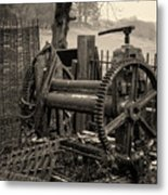 Farm Equipment Art Metal Print
