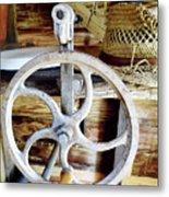 Farm Equipment Corn Sheller Metal Print