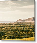 Farm Fields To Seaside Shores Metal Print