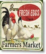 Farm Fresh Eggs-b Metal Print