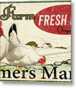 Farm Fresh Eggs-c Metal Print