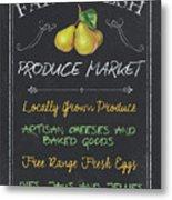 Farm Fresh Produce Metal Print