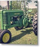 Farm Green Tractor Vintage Style Metal Print