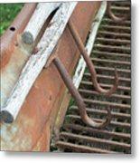 Farm Hooks Metal Print