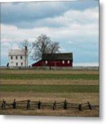 Farm House And Barn Metal Print