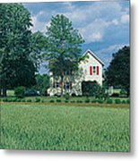 Farm House And Spring Field, Maryland Metal Print