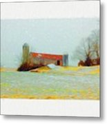 Farm In The Country Metal Print
