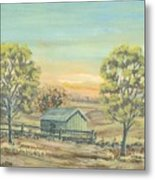 Farm In The Dell Metal Print