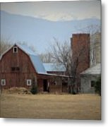Farm In The Foothills Metal Print