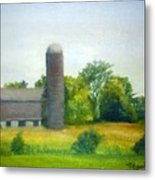 Farm In The Pine Barrens  Metal Print